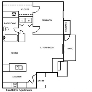 One Bedroom / One Bath - 650 Sq. Ft.*